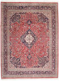 Keshan Indo Matto 278X365 Itämainen Käsinsolmittu Beige/Tummanpunainen Isot (Villa, Intia)