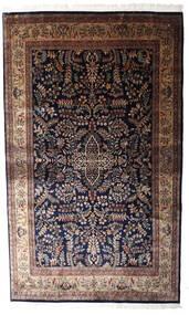 Keshan Indo Matto 193X317 Itämainen Käsinsolmittu Musta/Tummanruskea (Villa, Intia)