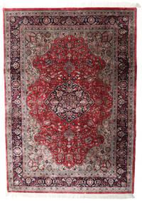 Keshan Indo Matto 202X289 Itämainen Käsinsolmittu Tummanpunainen/Tummanruskea (Villa, Intia)