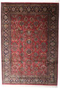 Keshan Indo Matto 196X285 Itämainen Käsinsolmittu Tummanpunainen/Tummanharmaa (Villa, Intia)