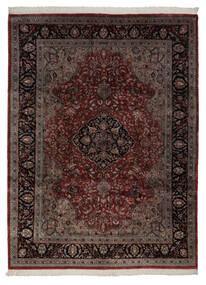 Keshan Indo Matto 248X335 Itämainen Käsinsolmittu Musta/Beige (Villa, Intia)