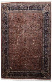 Keshan Indo Matto 241X368 Itämainen Käsinsolmittu Musta/Tummanruskea (Villa, Intia)