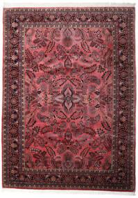 Sarough Indo Matto 248X340 Itämainen Käsinsolmittu Tummanruskea/Tummanpunainen (Villa, Intia)
