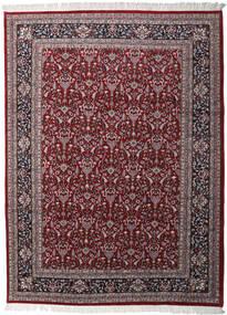 Keshan Indo Matto 256X349 Itämainen Käsinsolmittu Tummanruskea/Tummanpunainen Isot (Villa, Intia)