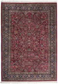 Sarough Indo Matto 255X357 Itämainen Käsinsolmittu Tummanruskea/Tummanpunainen Isot (Villa, Intia)