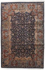 Keshan Indo Matto 237X362 Itämainen Käsinsolmittu Musta/Vaaleanharmaa (Villa, Intia)