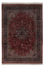 Keshan Indo Matto 241X350 Itämainen Käsinsolmittu Musta/Beige (Villa, Intia)