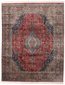 Keshan Indo Matto 247X314 Itämainen Käsinsolmittu Tummanpunainen/Tummanruskea (Villa, Intia)