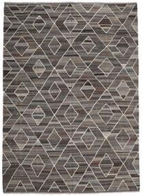 Kelim Ariana Matto 256X358 Moderni Käsinkudottu Tummanharmaa/Vaaleanharmaa Isot (Villa, Afganistan)