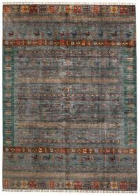 Shabargan Matto 210X289 Moderni Käsinsolmittu Tummanharmaa/Vaaleanharmaa (Villa, Afganistan)
