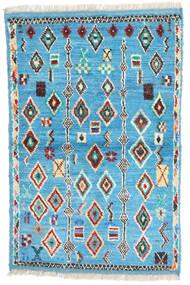 Moroccan Berber - Afghanistan Matto 88X132 Moderni Käsinsolmittu Siniturkoosi/Beige (Villa, Afganistan)