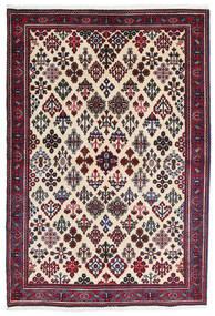 Meimeh Matto 110X160 Itämainen Käsinsolmittu Beige/Musta (Villa, Persia/Iran)
