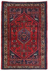 Hamadan Matto 105X155 Itämainen Käsinsolmittu Tummanpunainen/Musta (Villa, Persia/Iran)