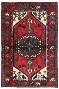 Hamadan Matto 98X145 Itämainen Käsinsolmittu Tummanruskea/Tummanpunainen (Villa, Persia/Iran)