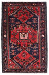 Hamadan Matto 80X135 Itämainen Käsinsolmittu Musta/Ruoste (Villa, Persia/Iran)