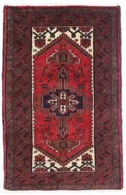 Hamadan Matto 77X120 Itämainen Käsinsolmittu Tummanpunainen/Tummanruskea (Villa, Persia/Iran)