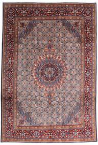 Moud Matto 200X295 Itämainen Käsinsolmittu Tummanpunainen/Tummanvioletti (Villa/Silkki, Persia/Iran)