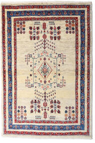 Loribaft Persia Matto 98X145 Moderni Käsinsolmittu Beige/Tummanvioletti (Villa, Persia/Iran)