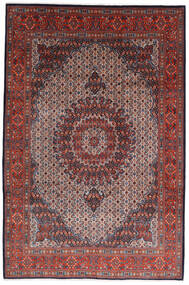 Moud Matto 210X317 Itämainen Käsinsolmittu Tummanruskea/Tummanpunainen (Villa/Silkki, Persia/Iran)