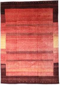 Loribaft Persia Matto 200X286 Moderni Käsinsolmittu Tummanpunainen/Vaaleanpunainen (Villa, Persia/Iran)