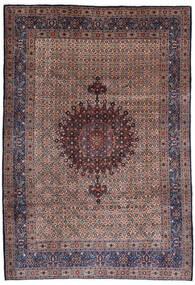 Moud Matto 210X303 Itämainen Käsinsolmittu Tummanpunainen/Tummanvioletti (Villa/Silkki, Persia/Iran)