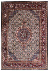 Moud Matto 195X300 Itämainen Käsinsolmittu Tummanruskea/Tummanpunainen (Villa/Silkki, Persia/Iran)