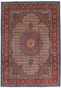 Moud Matto 210X302 Itämainen Käsinsolmittu Tummanpunainen/Tummanruskea (Villa/Silkki, Persia/Iran)