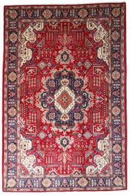 Tabriz Matto 200X310 Itämainen Käsinsolmittu Vaaleanharmaa/Punainen (Villa, Persia/Iran)
