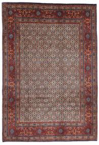 Moud Matto 200X290 Itämainen Käsinsolmittu Tummanruskea/Tummanpunainen (Villa/Silkki, Persia/Iran)