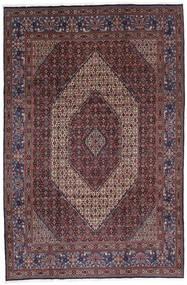 Moud Matto 213X320 Itämainen Käsinsolmittu Tummanruskea/Tummanpunainen (Villa/Silkki, Persia/Iran)