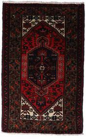 Hamadan Matto 77X125 Itämainen Käsinsolmittu Tummanpunainen (Villa, Persia/Iran)