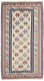 Kelim Senneh Matto 148X268 Itämainen Käsinkudottu Beige/Tummanharmaa (Villa, Persia/Iran)