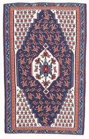 Kelim Senneh Matto 110X165 Itämainen Käsinkudottu Tummanharmaa/Tummanvioletti (Villa, Persia/Iran)
