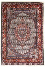 Moud Matto 205X300 Itämainen Käsinsolmittu Tummanvioletti/Tummanpunainen (Villa/Silkki, Persia/Iran)