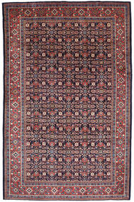 Mahal Matto 212X327 Itämainen Käsinsolmittu Tummanvioletti (Villa, Persia/Iran)