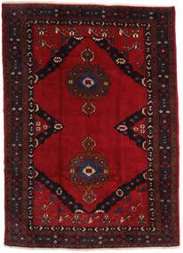 Mashad Matto 207X290 Itämainen Käsinsolmittu Musta/Tummanpunainen (Villa, Persia/Iran)