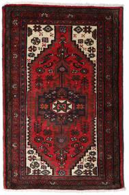 Hamadan Matto 80X125 Itämainen Käsinsolmittu Tummanruskea/Tummanpunainen (Villa, Persia/Iran)