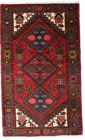 Hamadan Matto 77X130 Itämainen Käsinsolmittu Tummanpunainen/Tummanruskea (Villa, Persia/Iran)