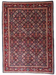 Sarough Matto 110X155 Itämainen Käsinsolmittu Tummansininen/Tummanpunainen (Villa, Persia/Iran)