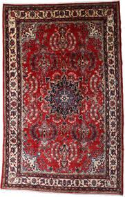 Hamadan Shahrbaf Matto 200X315 Itämainen Käsinsolmittu Tummanpunainen/Tummanharmaa (Villa, Persia/Iran)