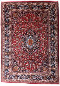 Mashad Matto 204X297 Itämainen Käsinsolmittu Tummanpunainen/Tummanruskea (Villa, Persia/Iran)