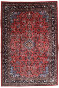 Hamadan Shahrbaf Matto 217X315 Itämainen Käsinsolmittu Tummanpunainen/Tummanruskea (Villa, Persia/Iran)