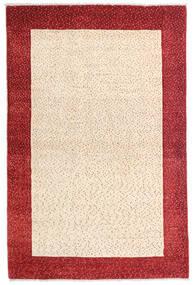 Loribaft Persia Matto 105X158 Moderni Käsinsolmittu Beige/Tummanpunainen (Villa, Persia/Iran)
