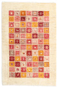 Loribaft Persia Matto 105X156 Moderni Käsinsolmittu Beige/Vaaleanpunainen (Villa, Persia/Iran)