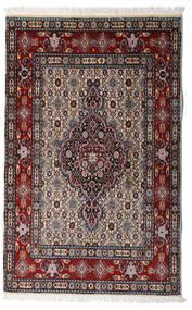 Moud Matto 80X127 Itämainen Käsinsolmittu Tummanruskea/Musta (Villa/Silkki, Persia/Iran)