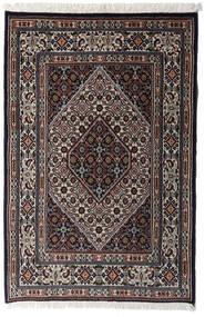 Moud Matto 77X117 Itämainen Käsinsolmittu Musta/Tummanruskea (Villa/Silkki, Persia/Iran)