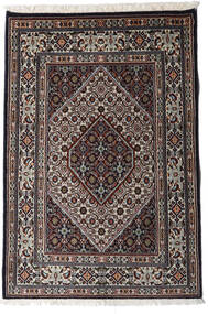 Moud Matto 80X118 Itämainen Käsinsolmittu Musta/Vaaleanharmaa (Villa/Silkki, Persia/Iran)