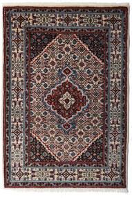 Moud Matto 80X120 Itämainen Käsinsolmittu Tummanruskea/Vaaleanharmaa (Villa/Silkki, Persia/Iran)