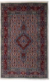 Moud Matto 80X126 Itämainen Käsinsolmittu Tummanpunainen/Vaaleanharmaa (Villa/Silkki, Persia/Iran)