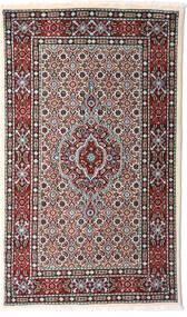 Moud Matto 78X130 Itämainen Käsinsolmittu Tummanruskea/Vaaleanharmaa (Villa/Silkki, Persia/Iran)